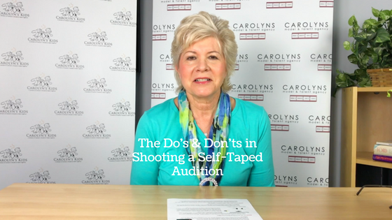 The Do's & Don'ts In Shooting A Self-Taped Audition