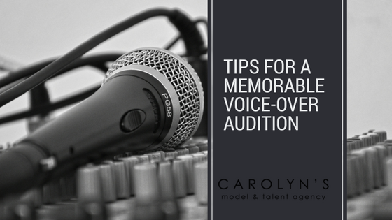 Tips For A Memorable Voice-Over Audition