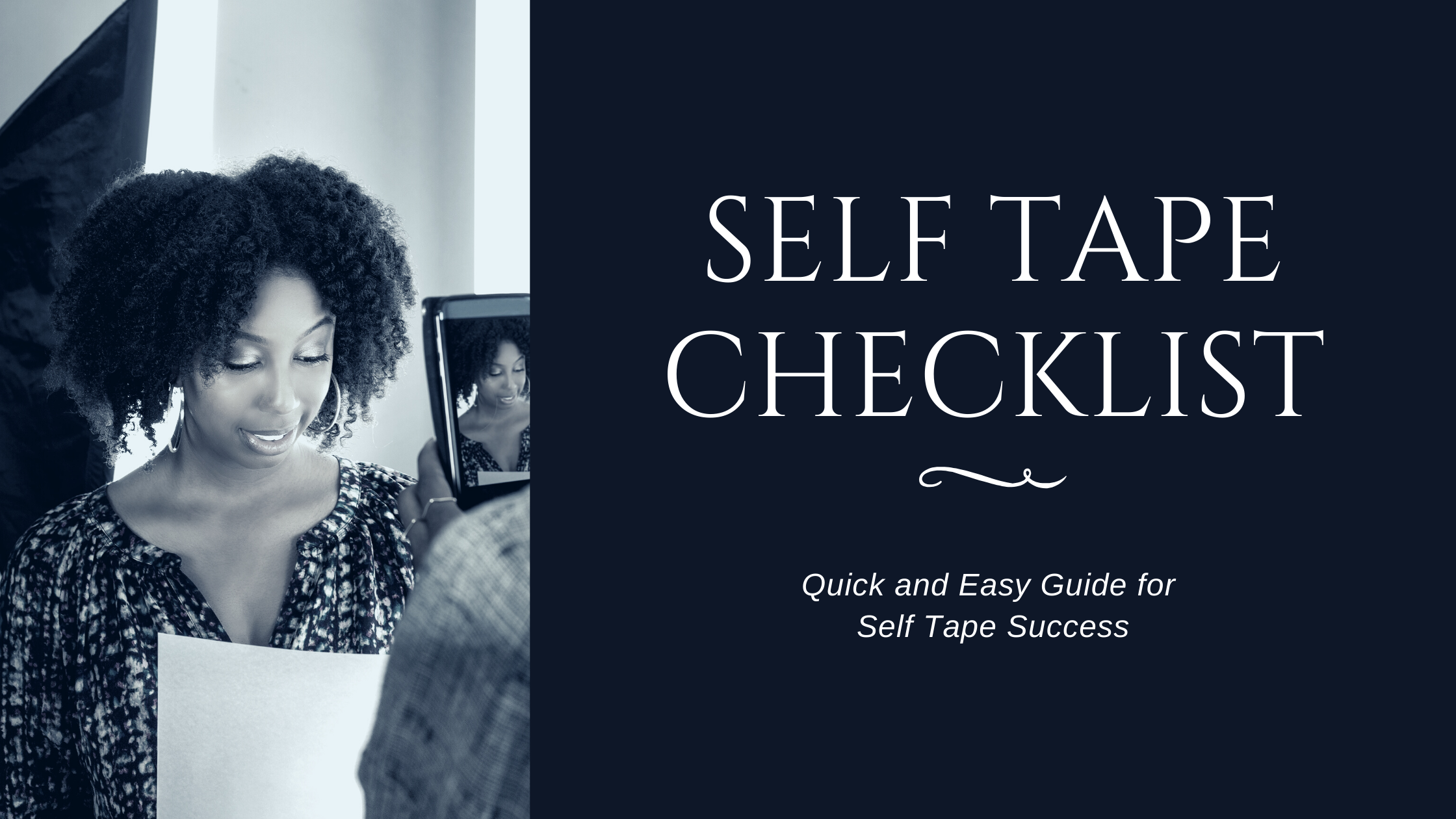 A Checklist For Self Tape Success
